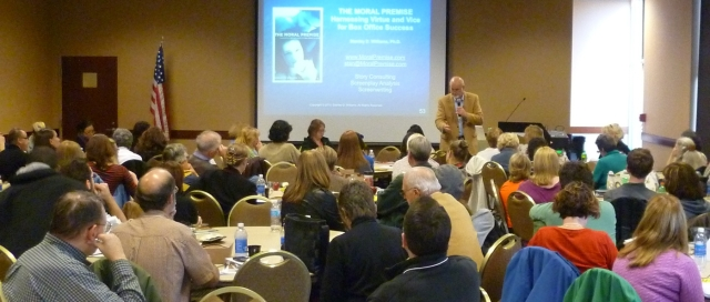 Keynote Speaker Stan Williams at the 2012 Rochester Writers' Conference - Photo by Michael Dwyer